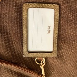 Coach Accessories - Coach ID lanyard with card slots.